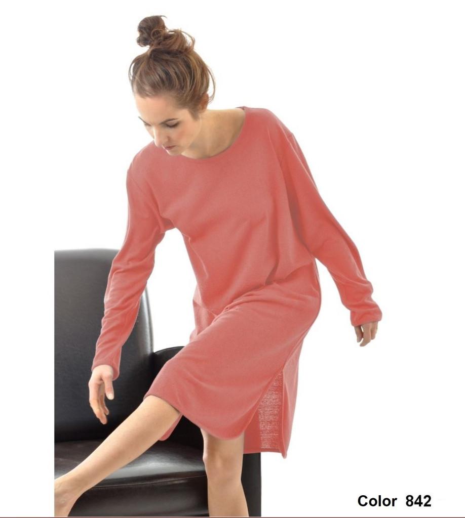 Women 100% Bourette Silk Long Shirt
