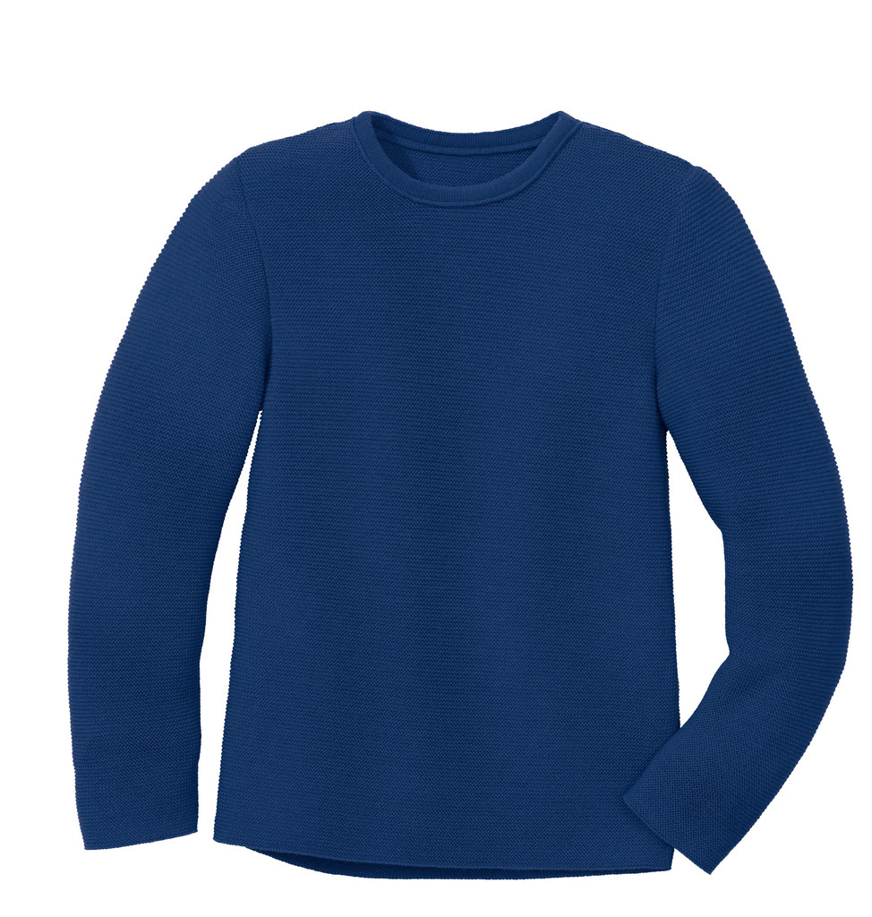 Disana Organic Wool Left-knit Jumper  Color: 294 Navy