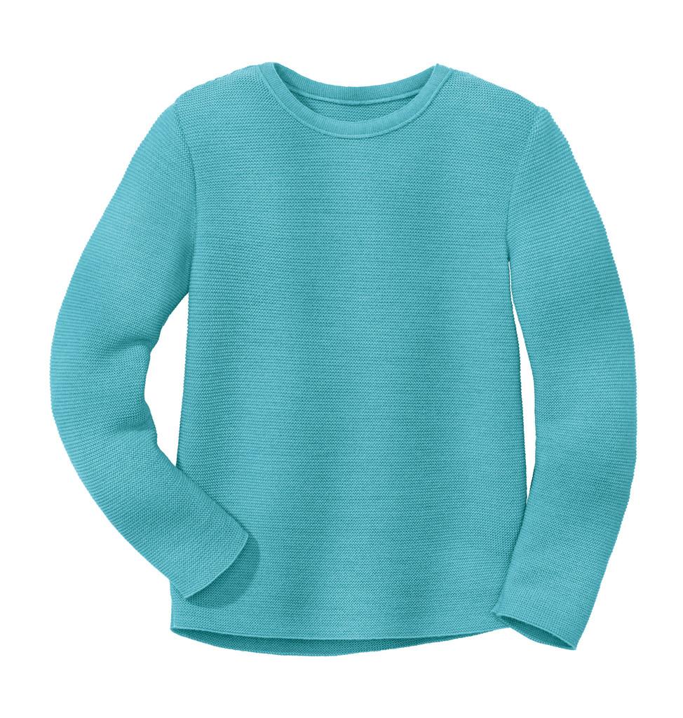 Disana Organic Wool Left-knit Jumper  Color: 219 Lagoon