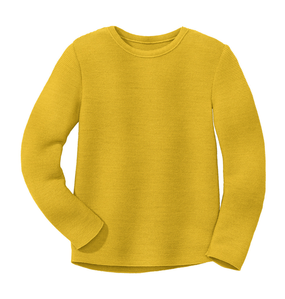 Disana Organic Wool Left-knit Jumper  Color: 447 Curry