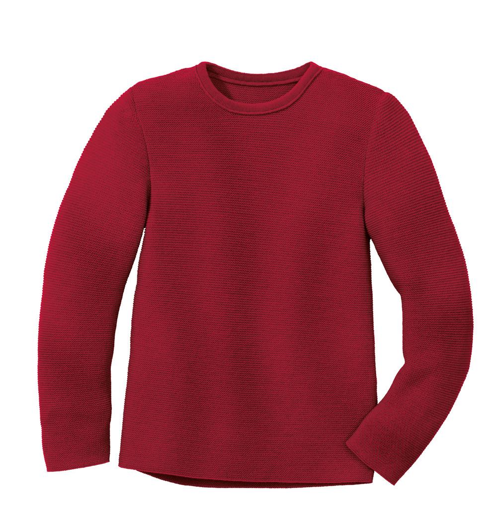 Disana Organic Wool Left-knit Jumper  Color: 398 Bordeaux
