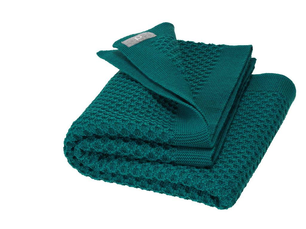 Disana Organic Wool Honeycomb Blanket Color: 281 Pacific