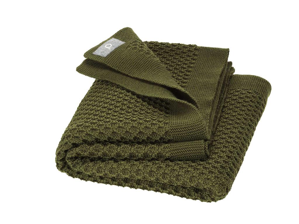 Disana Organic Wool Honeycomb Blanket Color: 581 Olive