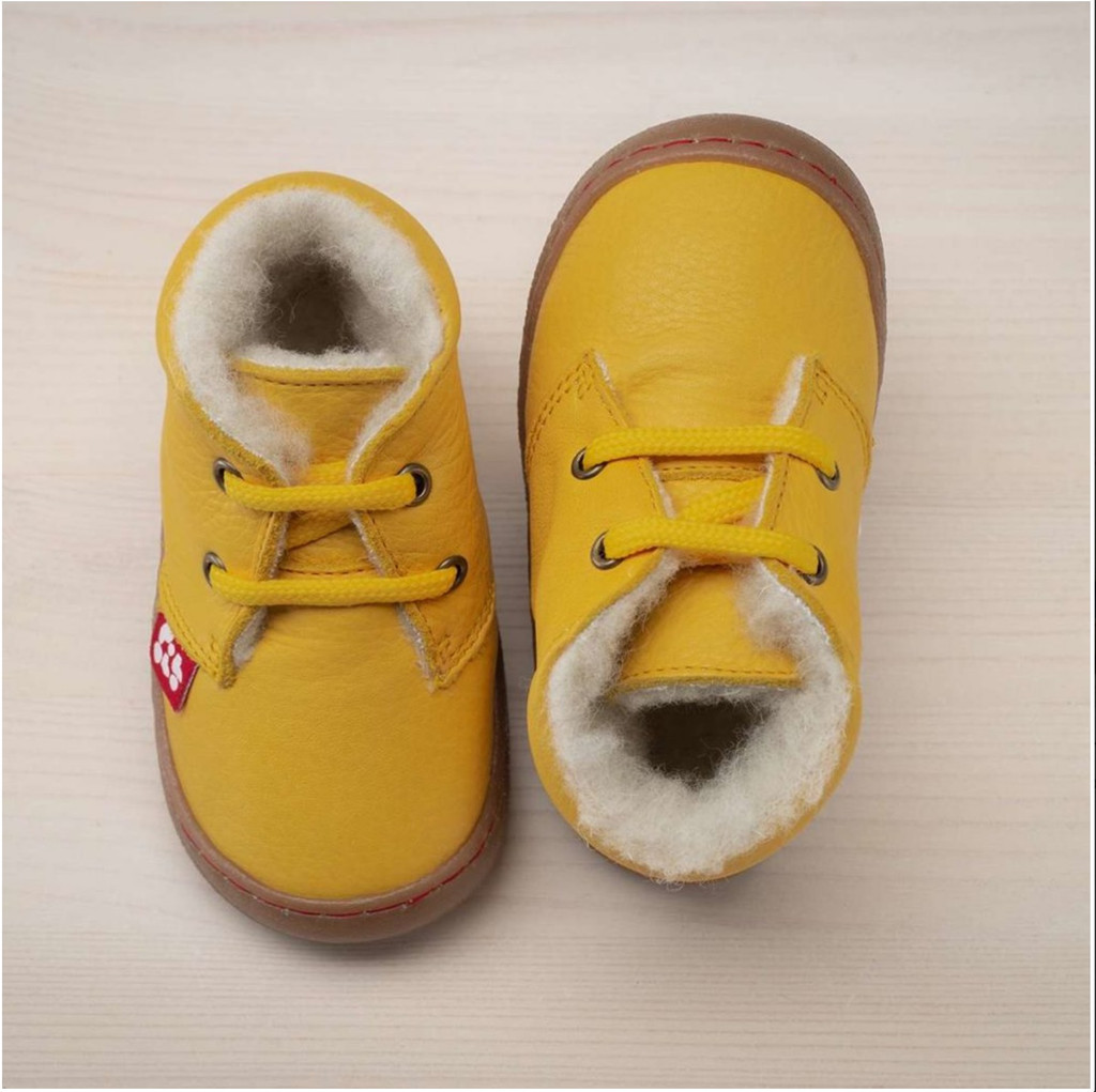 Natural Leather Shoes with wool lining