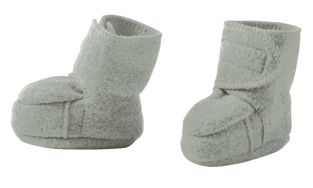 Disana Boiled Wool Booties Color: Grey