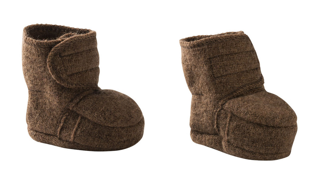 Disana Boiled Wool Booties Color: Hazelnut