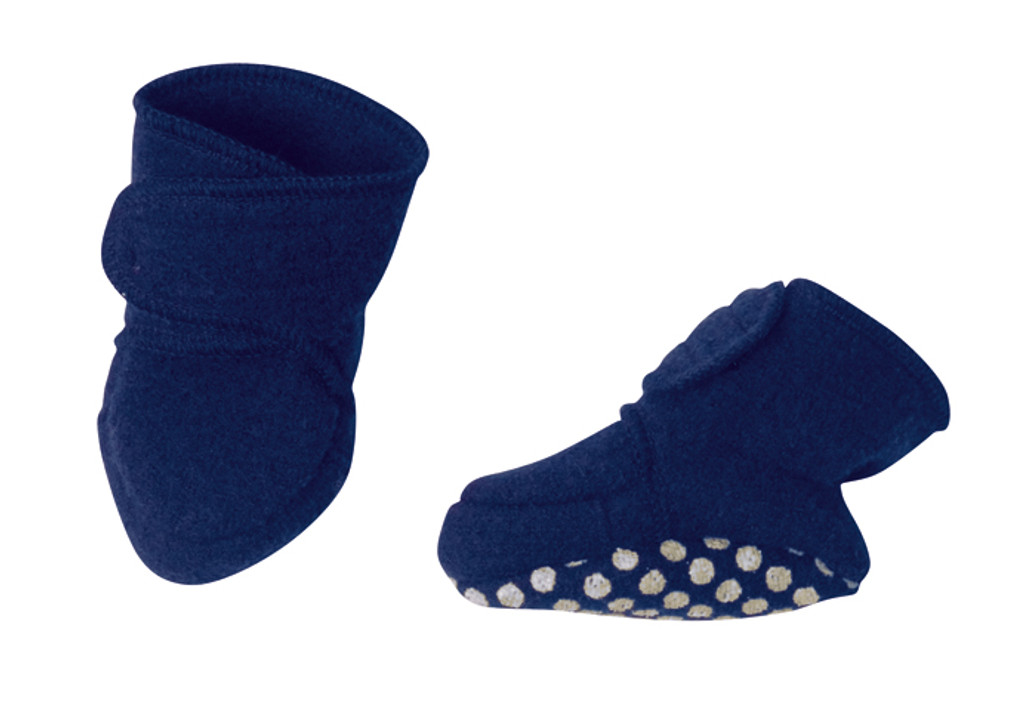 Disana Boiled Wool Booties Color: Navy
