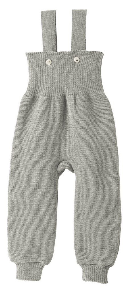 Disana Organic Wool Knitted Overalls Color: Grey