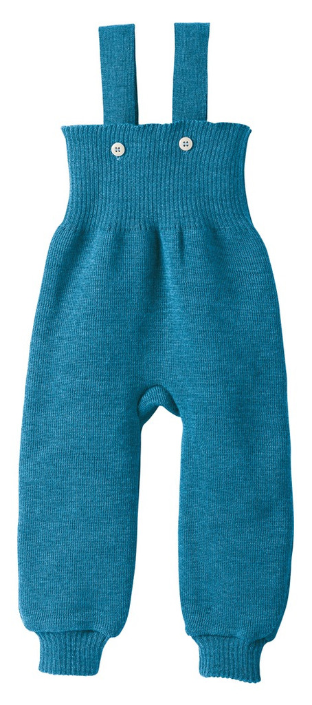 Disana Organic Wool Knitted Overalls Color: Blue
