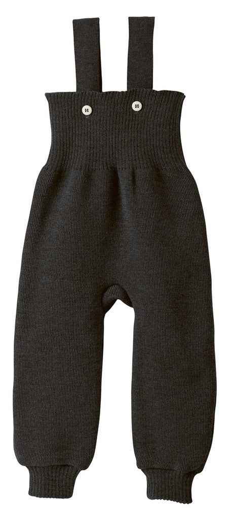 Disana Organic Wool Knitted Overalls Color: Anthracite