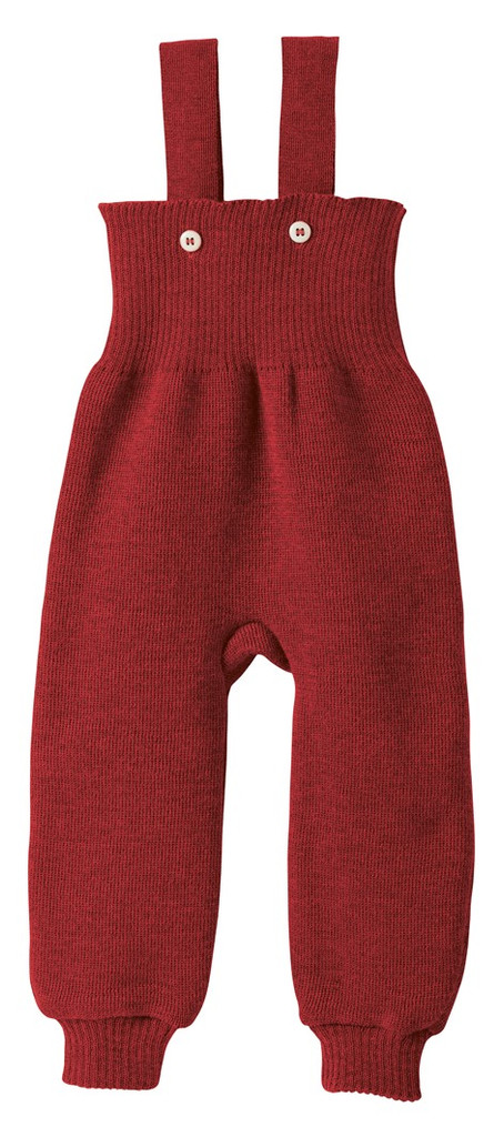 Disana Organic Wool Knitted Overalls Color: 398 Bordeaux