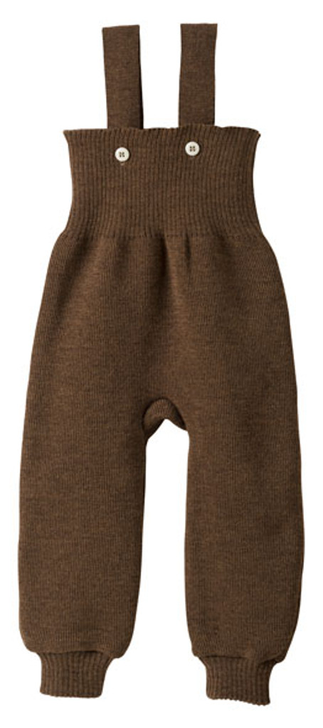 Disana Organic Wool Knitted Overalls Color: Hazelnut