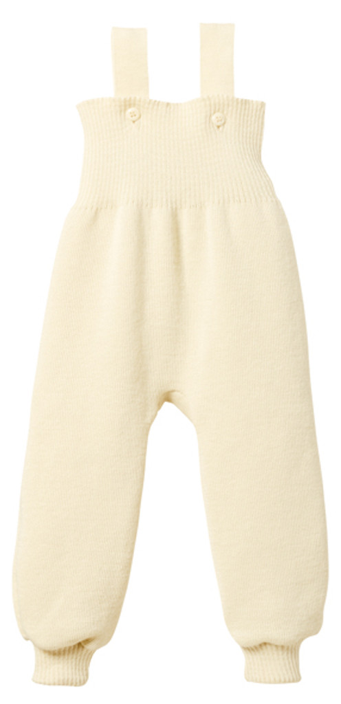 Disana Organic Wool Knitted Overalls Color: Natural