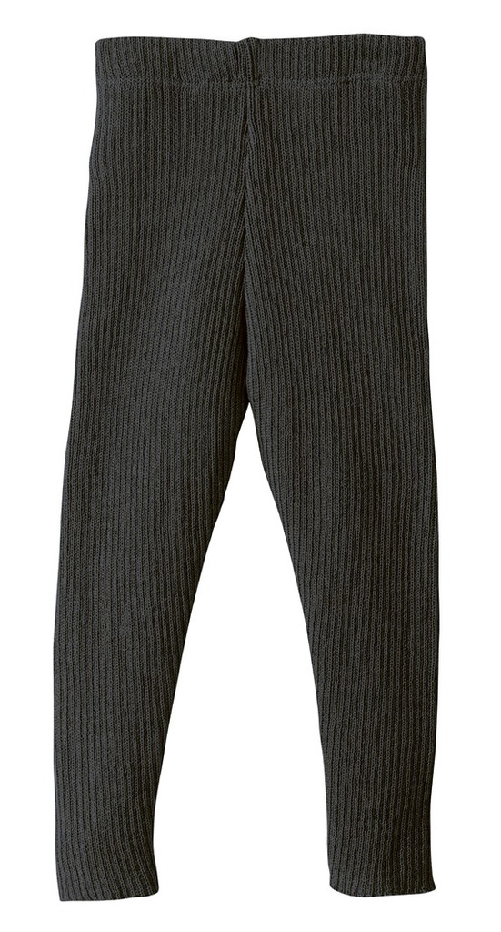 Organic Merino Wool Knitted Leggings Color: 199 Anthracite