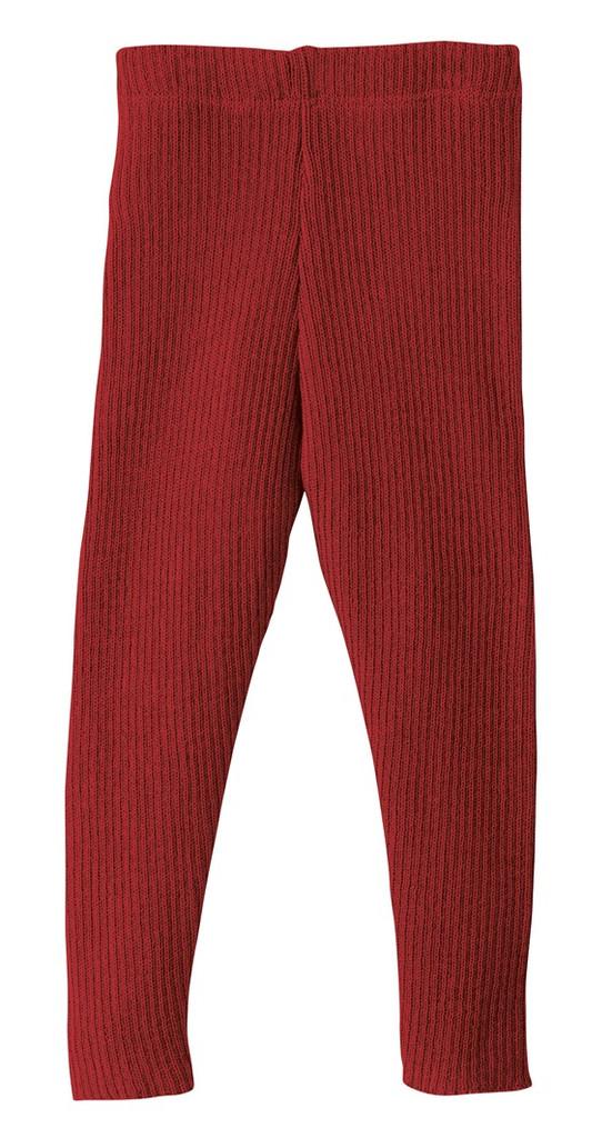 Organic Merino Wool Knitted Leggings Color: 398 Bordeaux