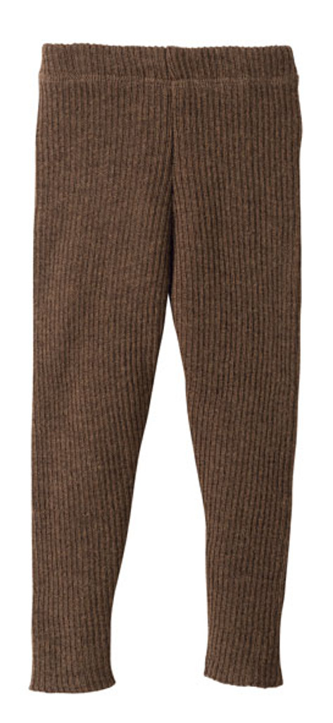 Organic Merino Wool Knitted Leggings Color: Hazelnut