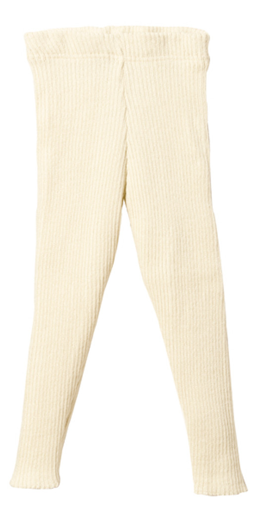 Organic Merino Wool Knitted Leggings Color: Natural