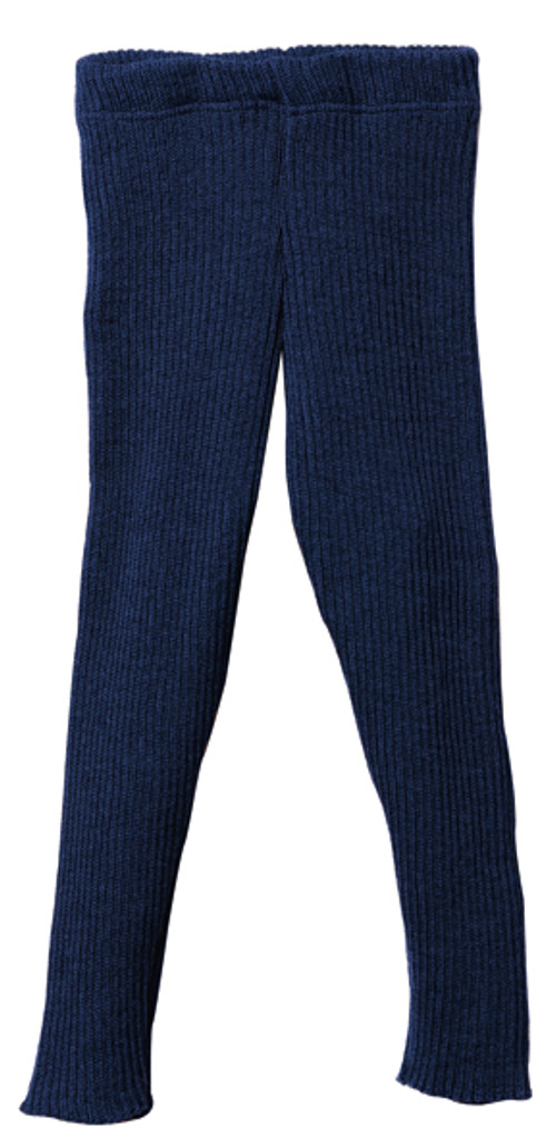 Organic Merino Wool Knitted Leggings Color: Navy