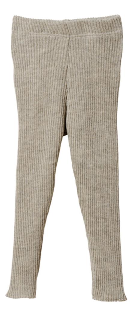 Organic Merino Wool Knitted Leggings Color: Grey