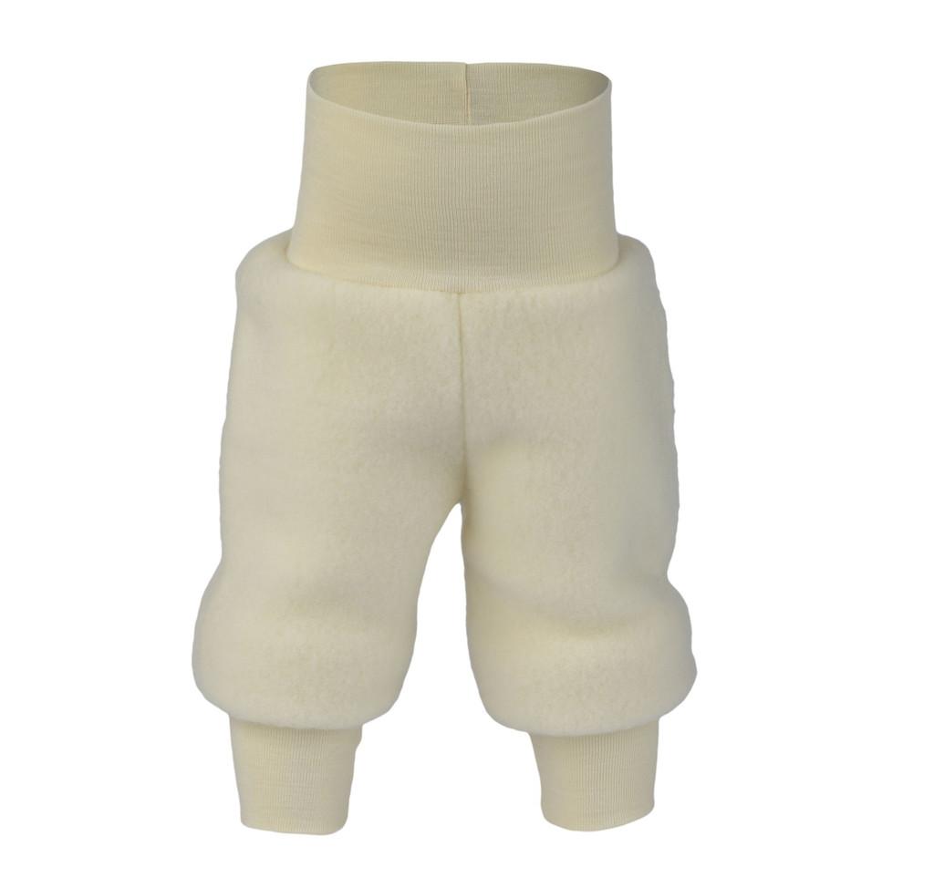 Organic Wool Fleece Pants with High Waistband Color:  01 Natural