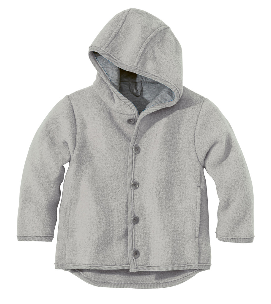 Disana Organic Boiled Wool Jacket Color: Grey