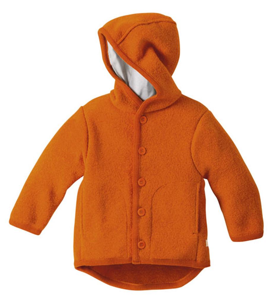 Disana Organic Boiled Wool Jacket Color: Orange