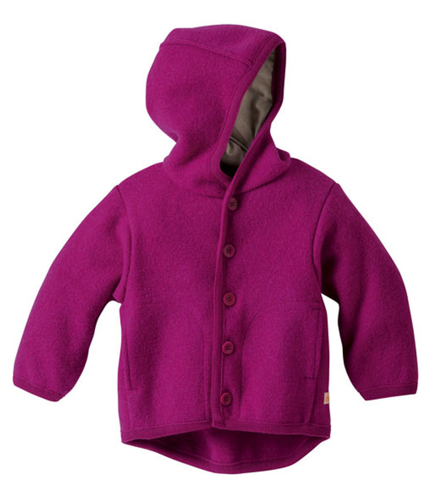 Disana Organic Boiled Wool Jacket Color: Berry