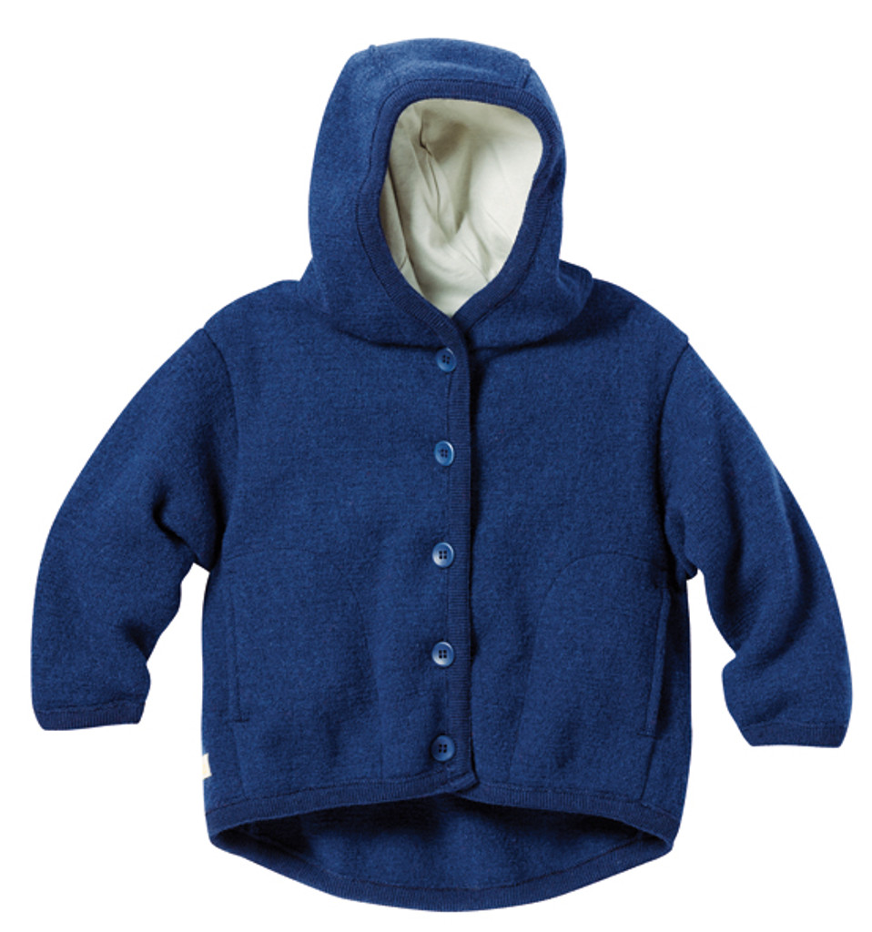 Disana Organic Boiled Wool Jacket Color: Navy