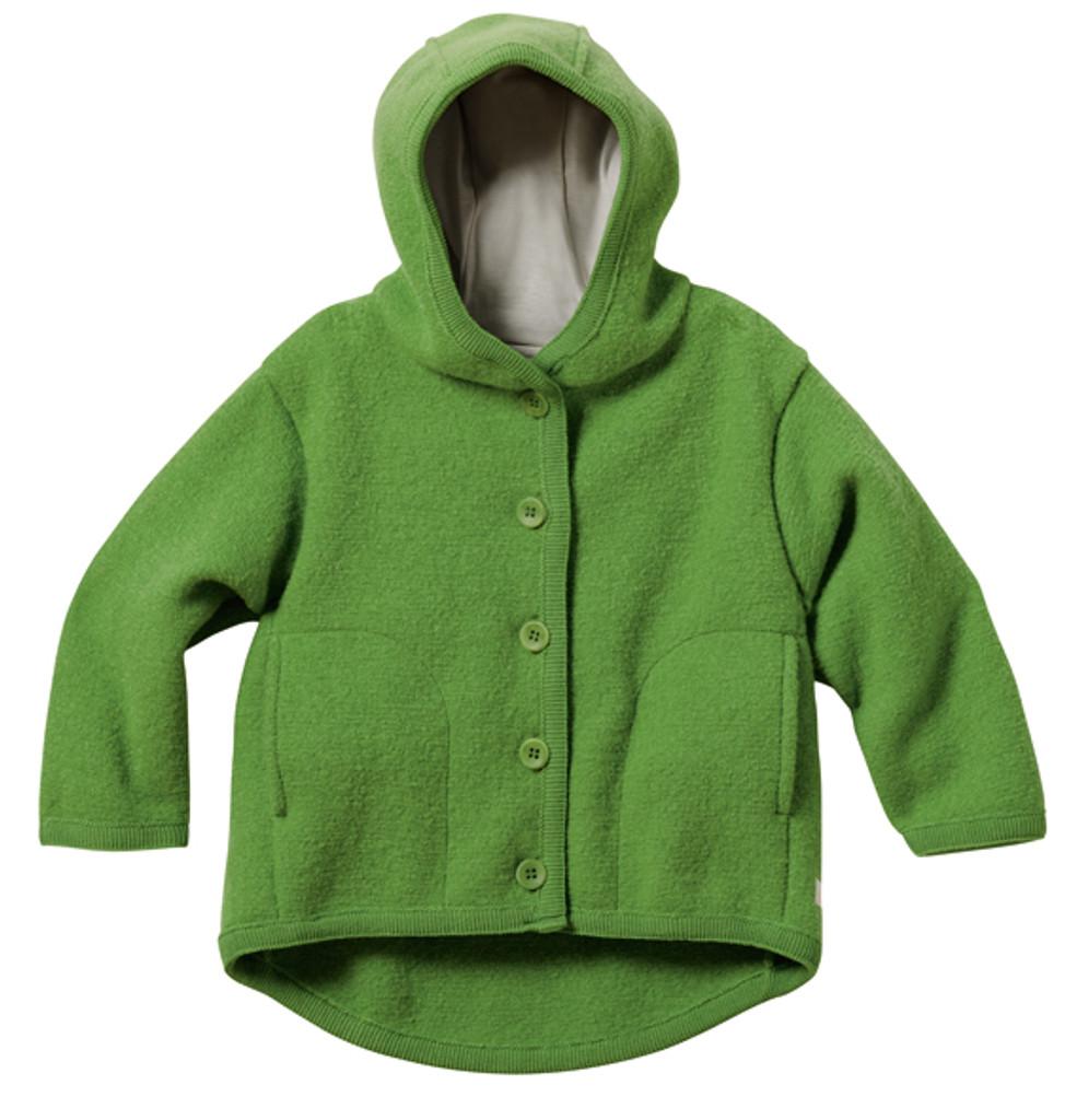 Disana Organic Boiled Wool Jacket Color: Green
