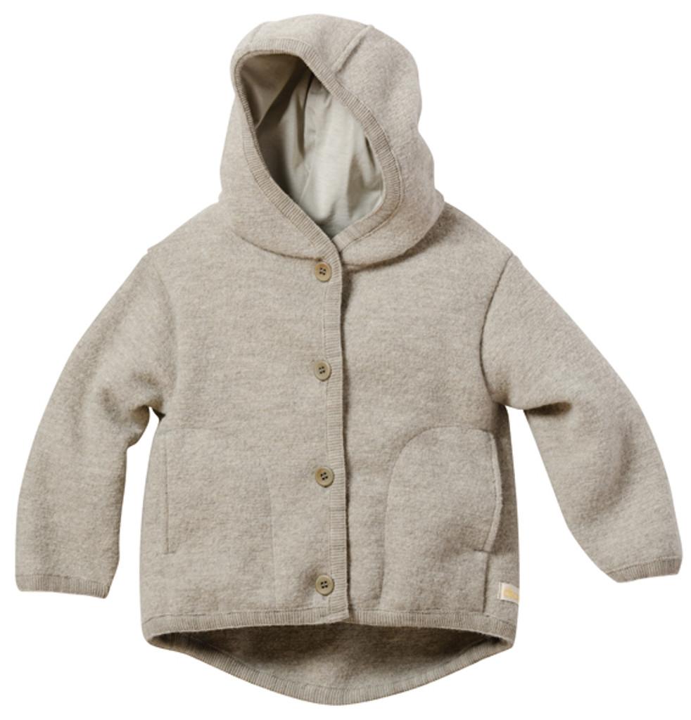 Disana Organic Boiled Wool Jacket Color: Moon Grey