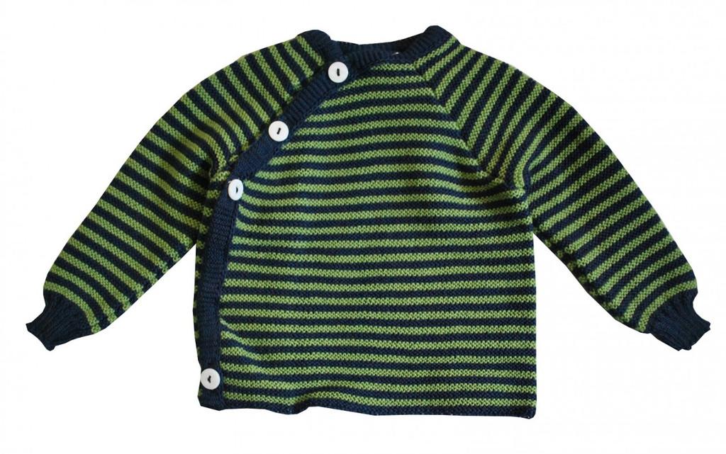 Navy/ Apple Green Stripes