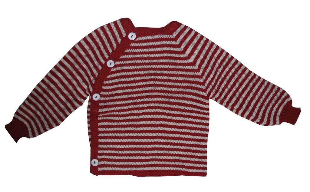 Burgandy/ Natural Stripes