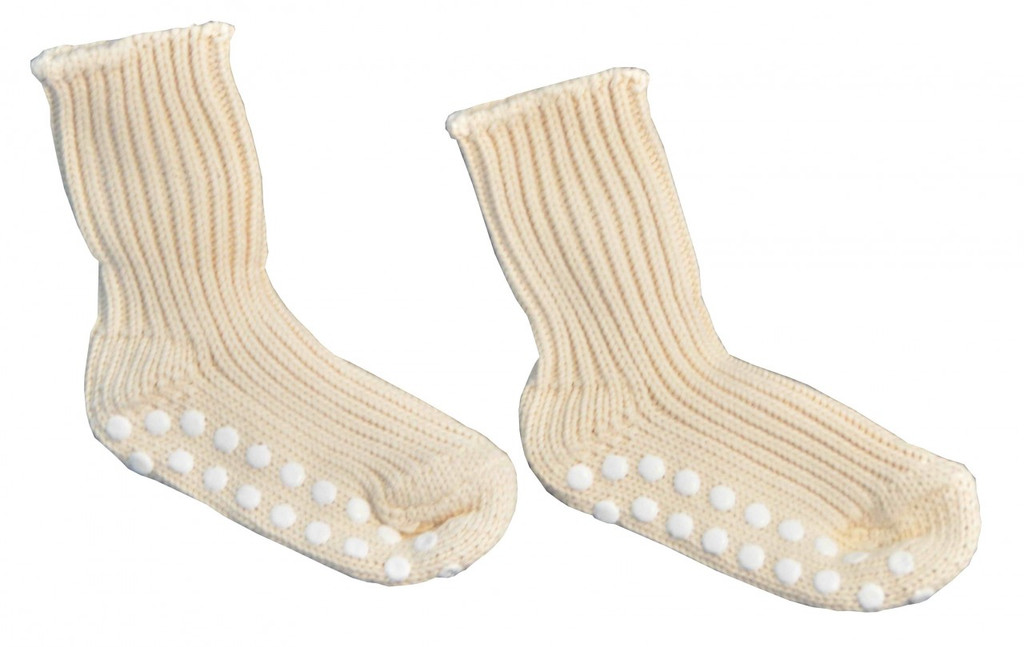 Hirsch Natur Chunky Organic Cotton Socks with Silicone Grips