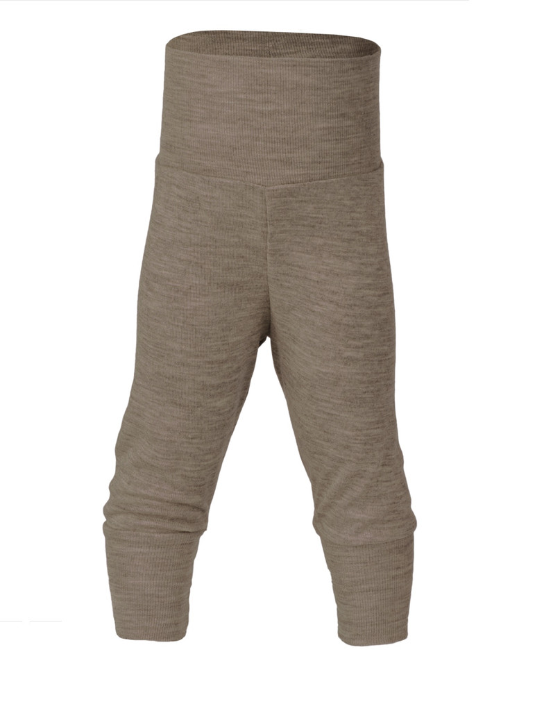 Organic Wool / Silk Baby Pants Color: 075 Walnut