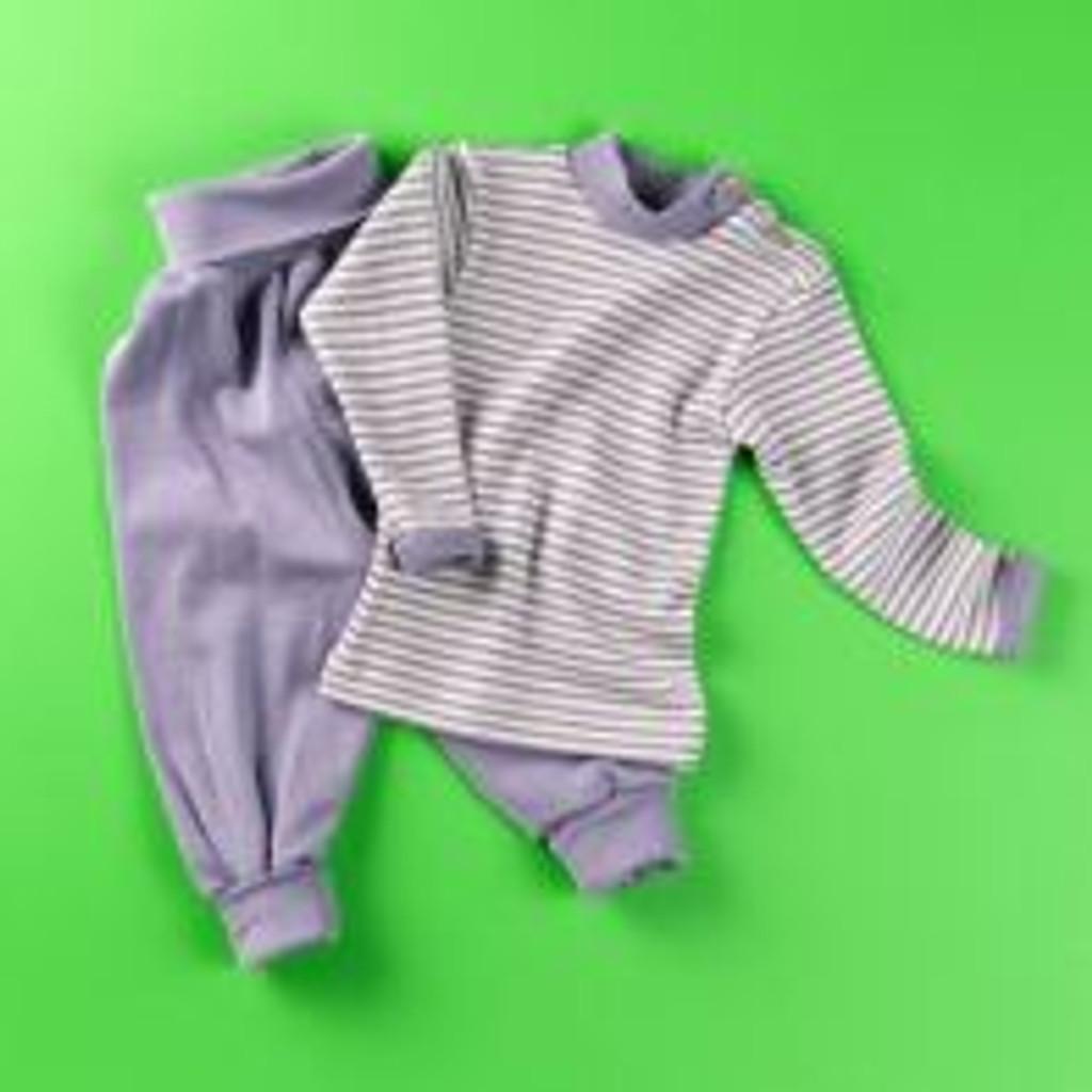 Organic Wool / Silk Baby Pants Color: Lavender