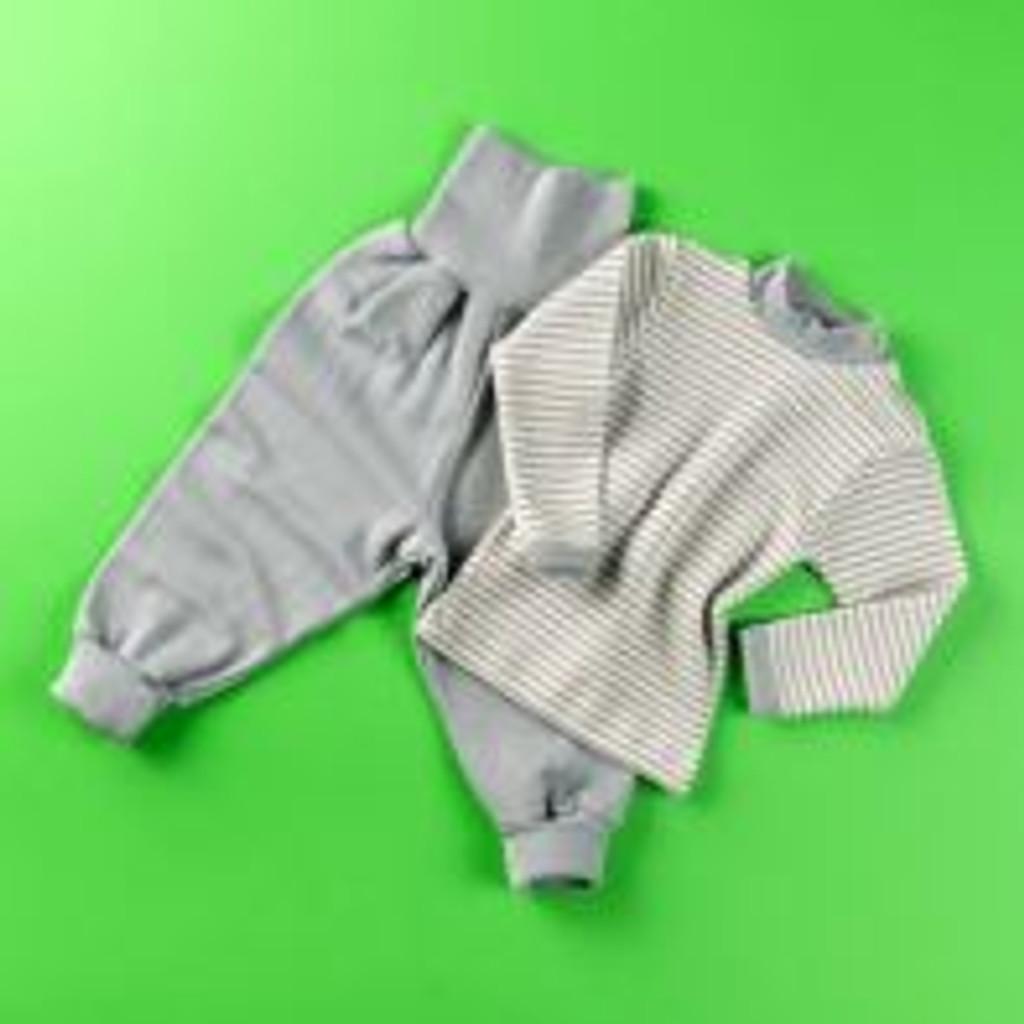 Organic Wool / Silk Baby Pants Color: Tin