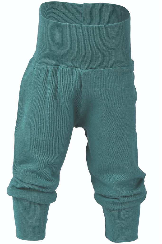 Organic Wool / Silk Baby Pants Color: Ice-blue