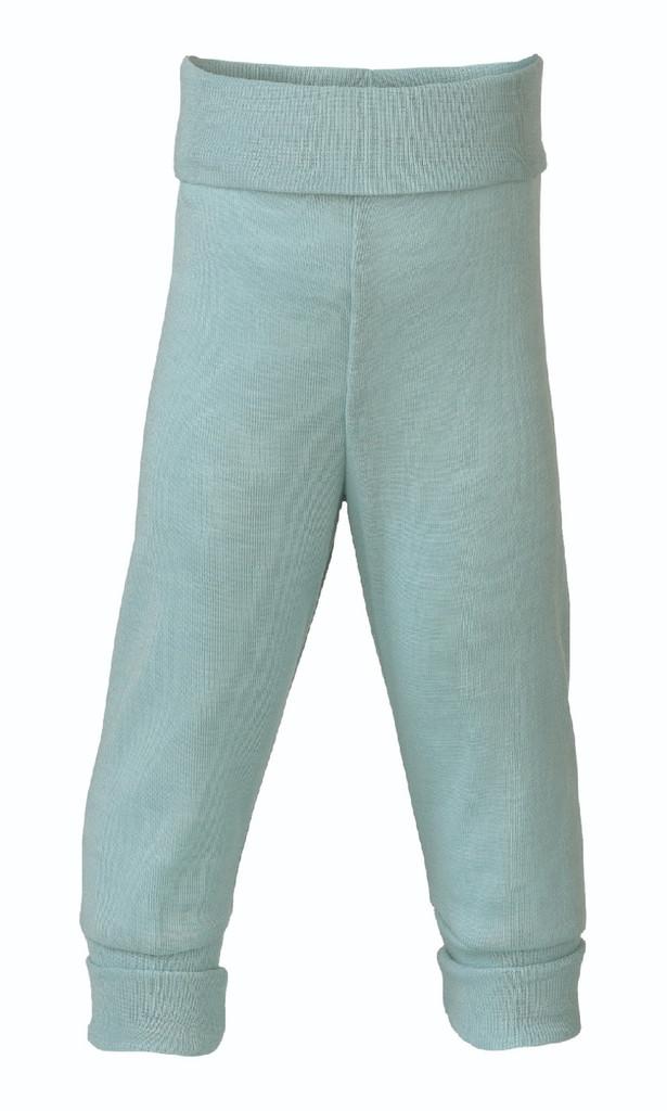 Organic Wool / Silk Baby Pants Color: glacier