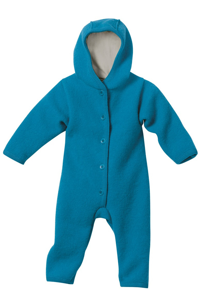 Disana Organic Boiled Wool Bunting Color: Blue