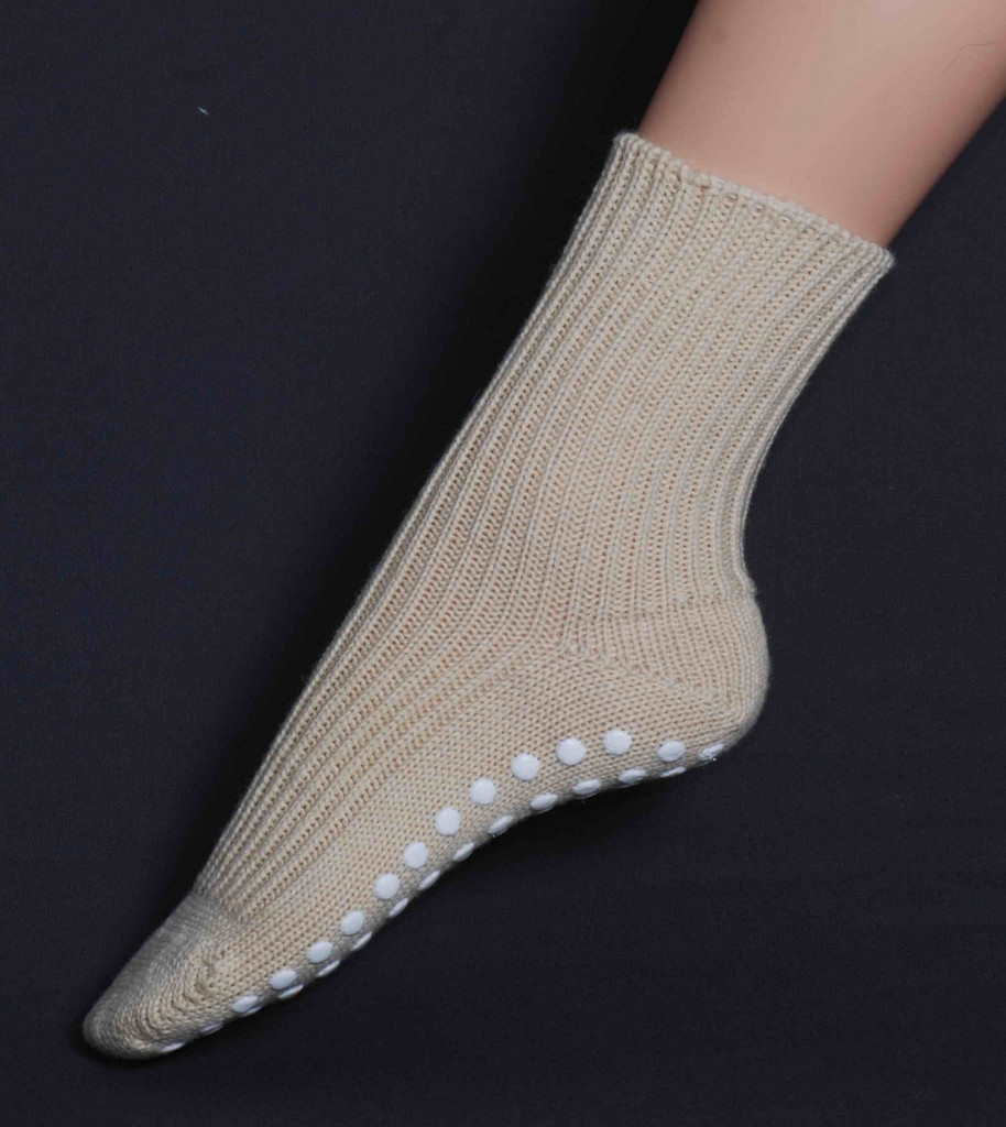 Hirsch Natur Chunky Organic Wool Socks with Silicone Grips