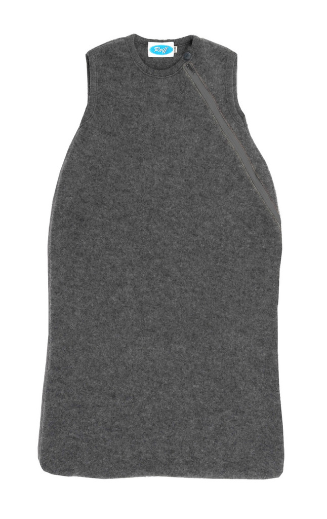 Organic Wool Fleece Sleep Sack Color: Slate Grey