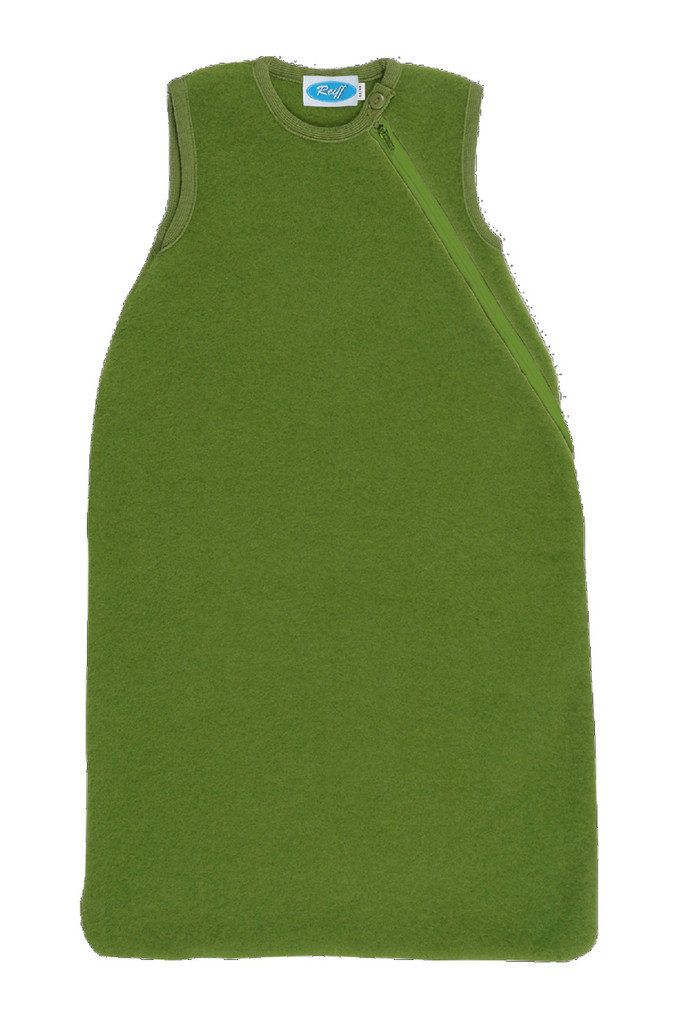 Organic Wool Fleece Sleep Sack Color: Apple Green