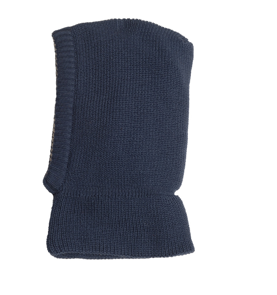 Organic Merino Wool Balaclava Color: Navy
