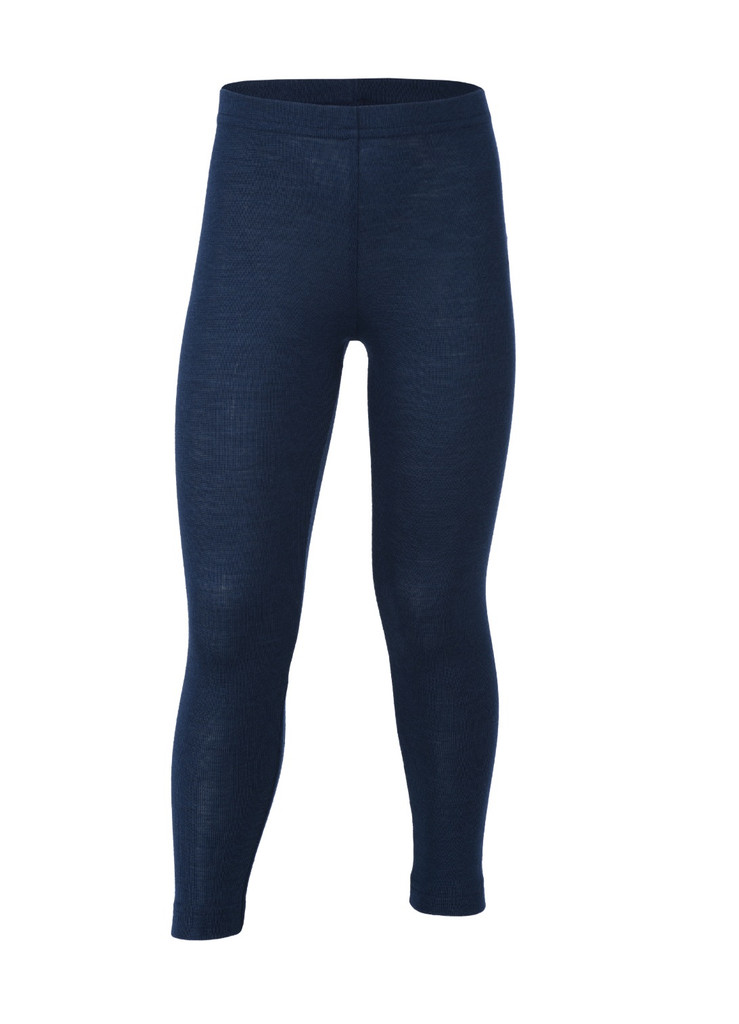 Organic Wool/ Silk Children's Leggings Color: Navy