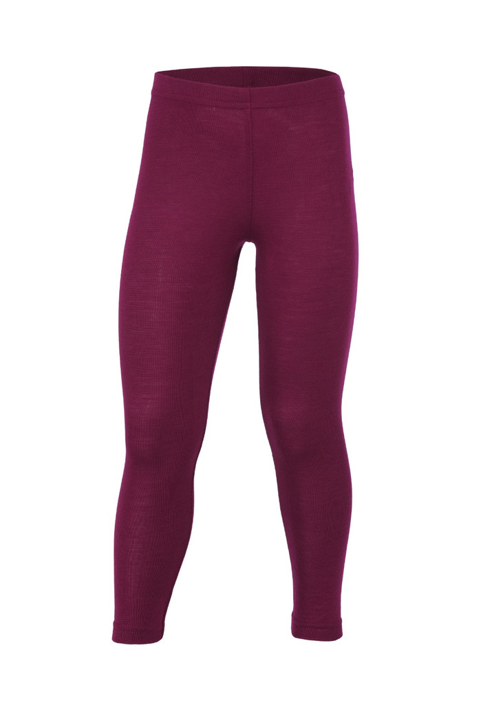 Organic Wool/ Silk Children's Leggings Color: Orchid