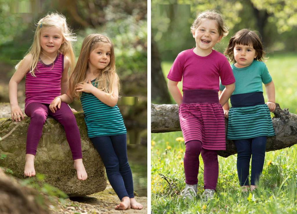 Organic Wool/ Silk Children's Leggings