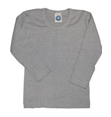 Organic Wool/ Silk/ Cotton Long Sleeved Shirt for Kids Color: 940 Grey Melange