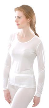 Organic Silk Long Sleeved Shirt for Women