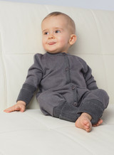 Organic Merino Wool/ Silk Romper with Optional Feet