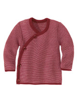 Disana Organic Wool Melange Jacket Sweater Color: 933 Bordeaux Rose